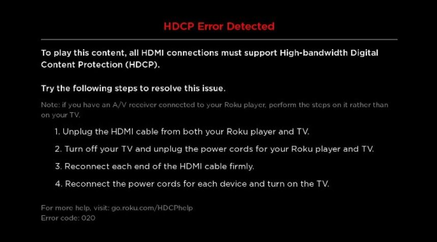 unsupported hdcp protected content