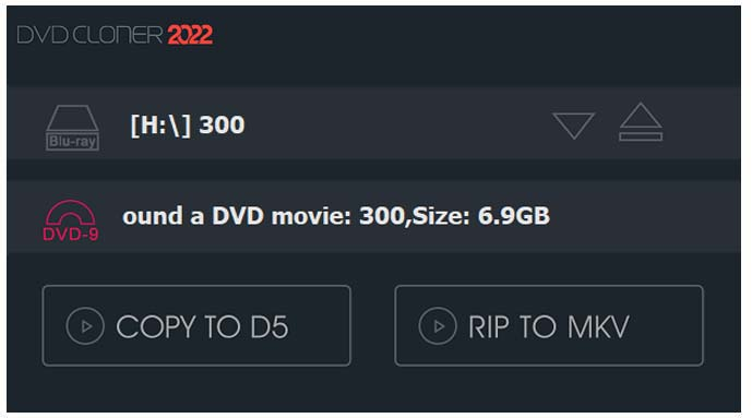 dvd-cloner copy to d5 and d9