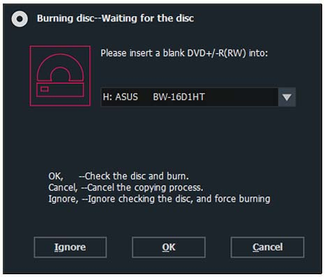 dvd-cloner wait blank disc