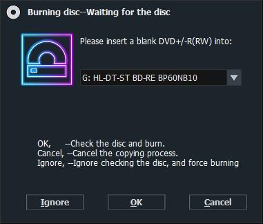 dvd-cloner copy blu-ray wait disc
